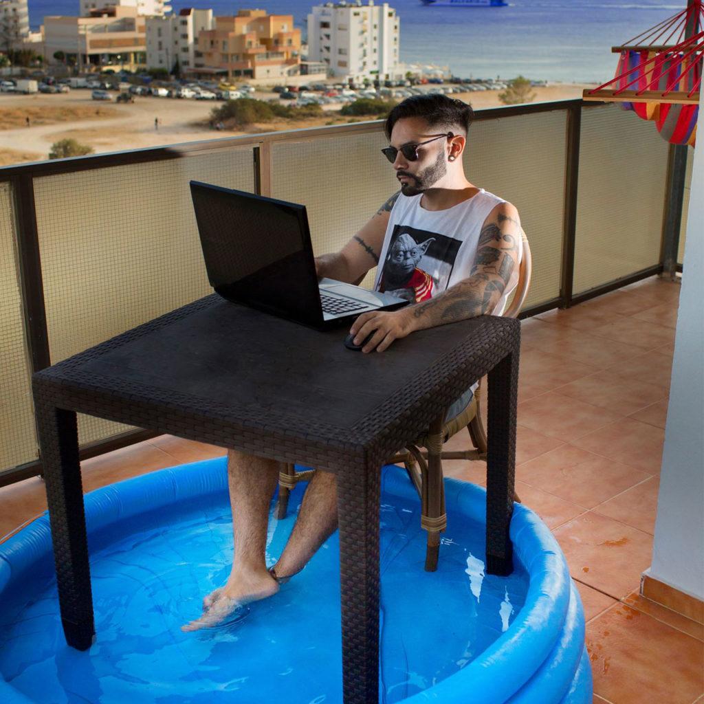 Working in Ibiza